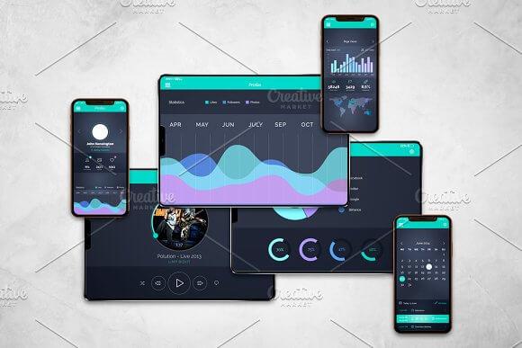 Realistic Design Iphone Ipad X Mockup Mockuphut Home Of Mockups