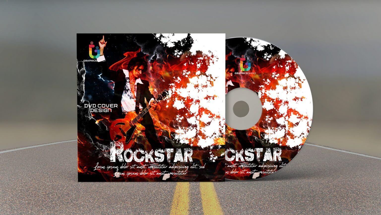Dvd Cover Design Template from mockuphut.com